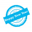 Happy new year. blue press — Stock Vector #6928919