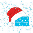 Celebratory cap of Santa Claus. — Stock Vector