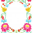 Flower ornament. Design of a celebratory card — Stock Vector #7254737