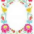 Flower ornament. Design of a celebratory card — Stock Photo