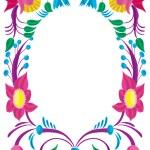Celebratory card. Design of a flower ornament. — Stock Photo