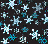 Mooie sneeuwvlokken op een zwarte achtergrond. — Stockvector