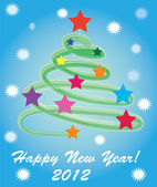 Abstract New Year tree of 2012. — Stock Vector
