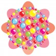 Abstract flower. Color spheres — Image vectorielle