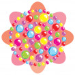 Abstract flower. Color spheres — Imagen vectorial