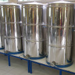 Stock Photo: Aluminium vats