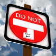 Sign do not enter. 3D — Stock Photo #7160274