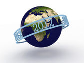 Planet earth with numbers 2012. 3D — Stock Photo