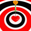 Dartboard with darts and heart. 3D image — Stock Photo