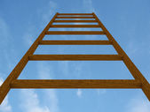 Stair in sky with clouds. 3D image — Stockfoto