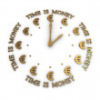 The time is money. 3D image on white background — Stock Photo