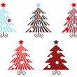 Retro vector Trees collection isolated on white. — Stock Vector