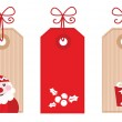 Retro Christmas Gift Tags or Labels ( red ) — Stock Vector