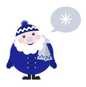 Cute vector Nicholas with speech bubble isolated on white — Stock Vector