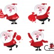 Cute cartoon Santa Claus set — Stock Vector