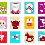 Christmas Advent Calendar elements 2 — Stock Vector #7861472