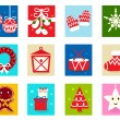 Stock Vector: Christmas Advent Calendar elements 1
