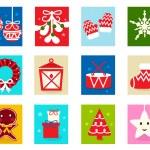 Christmas Advent Calendar elements 1 — Stock Vector