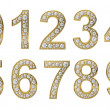 Golden numbers with white diamonds — Stock Photo #7241040