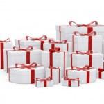 White gift boxes — Stock Photo