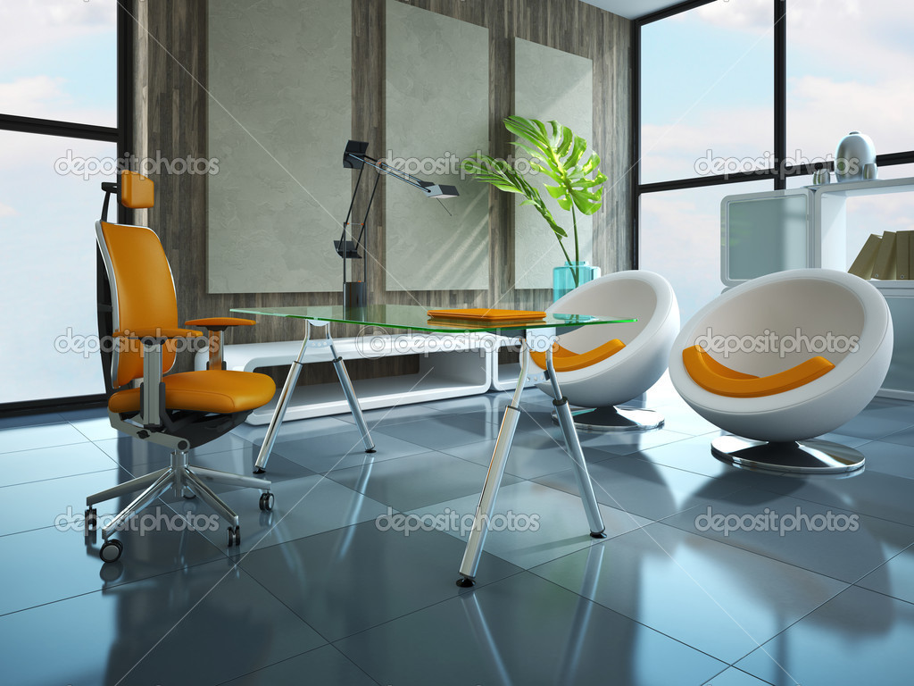 Part of the modern office 3D rendering — Stock Photo #6784704