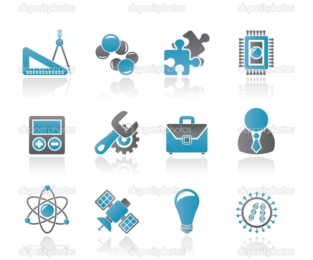 Science and Research Icons - Vector Icon set  Stock Vector #6773957