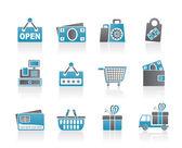 购物和零售图标 — 图库矢量图片