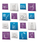 Beverages and drink icons — Stock Vector