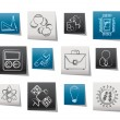 Stock Vector: Science and Research Icons