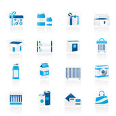 Different kind of package icons — Stock Vector