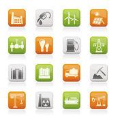 ícones de negócios e indústria — Vetorial Stock