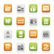 Different kind of package icons - Stock Vector
