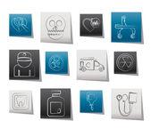 ícones de equipamentos de medicina e hospital — Vetorial Stock