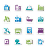 Real Estate objects and Icons — Stock Vector