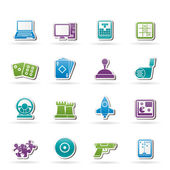 Computer Games tools and Icons — Stock Vector