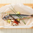 Fresh mackerel - Stock Photo
