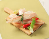 Fresh white fish fillets — Stock Photo