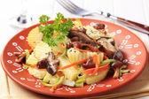 Potato and mushroom appetizer — Stock Photo