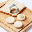 Bread bases for canapes - Stock Photo