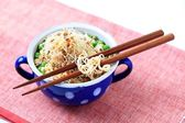 Legume soup with noodles — Stock Photo