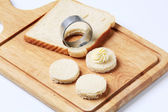 Bread bases for canapes — Stock Photo