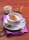 Caffè e latte cotto a vapore — Foto Stock