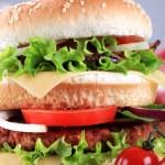 Double cheeseburger — Stock Photo #7248244