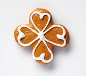 Gingerbread four leaf clover — Stock Photo