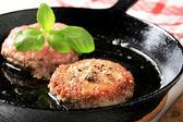Pan fried patties — Stock Photo