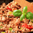 Ground meat stir fry — Stock Photo