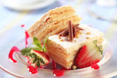 Mille-feuille pastry — Stock Photo