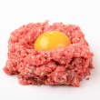 Ground beef and yolk — Stock Photo #7724484