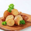 Royalty-Free Stock Photo: Roasted new potatoes