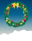 Decorative wreath — Stock Vector